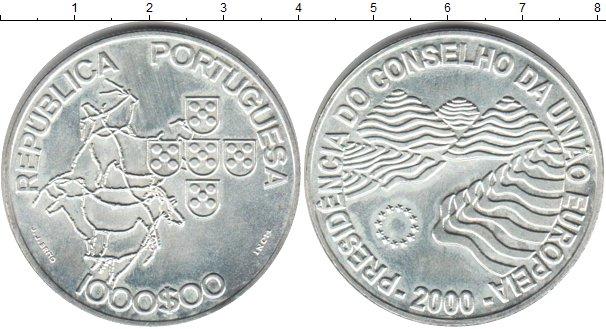 Картинка Монеты Португалия 1.000 эскудо Серебро 2000