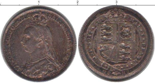 Картинка Монеты Великобритания 6 пенсов Серебро 1887
