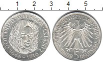 Изображение Мелочь ФРГ 5 марок 1966 Серебро