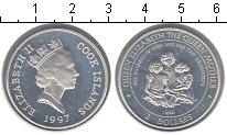 Изображение Монеты Острова Кука 2 доллара 1997 Серебро UNC- Королева-мать