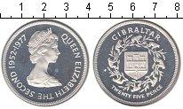Изображение Монеты Гибралтар 25 пенсов 1977 Серебро UNC-