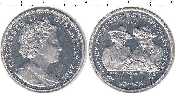 Картинка Монеты Гибралтар 1 крона Серебро 2002