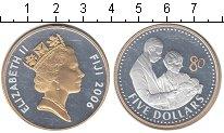 Изображение Монеты Фиджи 5 долларов 2006 Серебро UNC-