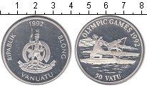 Изображение Монеты Вануату 50 вату 1992 Серебро Proof- Гребля