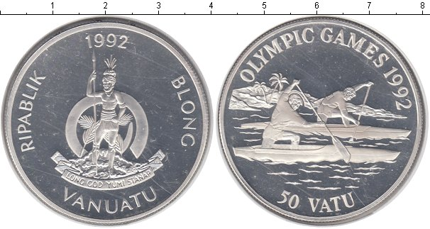 Картинка Монеты Вануату 50 вату Серебро 1992