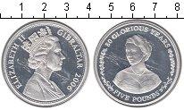Изображение Монеты Гибралтар 5 фунтов 2006 Серебро Proof- 80-летие королевы