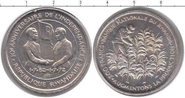 Картинка Монеты Руанда 200 франков Серебро 0