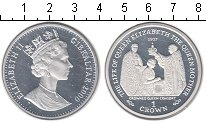 Изображение Монеты Гибралтар 1 крона 2000 Серебро Proof- Коронация
