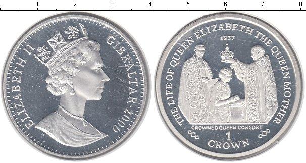 Картинка Монеты Гибралтар 1 крона Серебро 2000