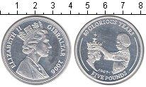Изображение Монеты Гибралтар 5 фунтов 2006 Серебро Proof- Коронация