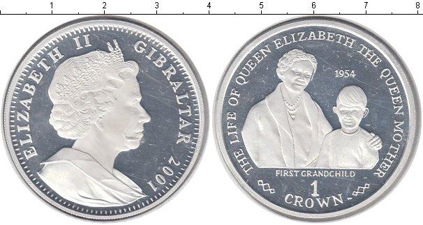 Картинка Монеты Гибралтар 1 крона Серебро 2001