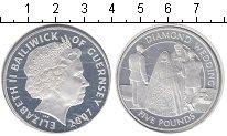 Изображение Монеты Гернси 5 фунтов 2007 Серебро UNC-