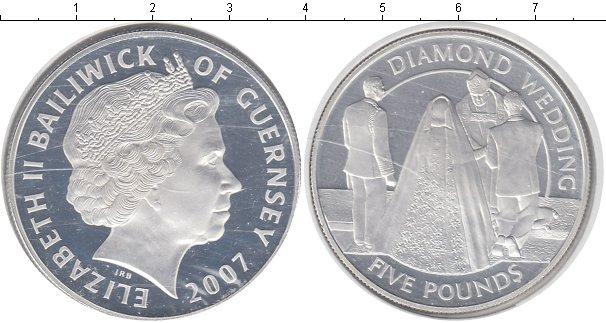 Картинка Монеты Гернси 5 фунтов Серебро 2007