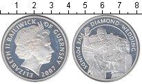 Изображение Монеты Гернси 5 фунтов 2007 Серебро UNC- Бриллиантовая свадьб