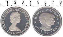 Изображение Монеты Остров Джерси 2 фунта 1981 Серебро UNC- Бракосочитание