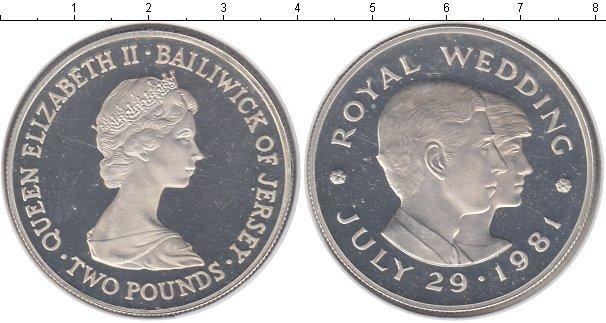 Картинка Монеты Остров Джерси 2 фунта Серебро 1981
