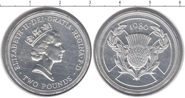 Картинка Монеты Великобритания 2 фунта Серебро 1986