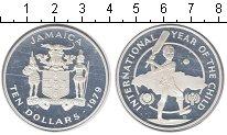 Изображение Монеты Ямайка 10 долларов 1979 Серебро Proof- Год детей