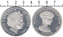 Изображение Монеты Остров Джерси 5 фунтов 2002 Серебро Proof- Королева-мать