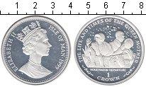 Изображение Монеты Остров Мэн 1 крона 1999 Серебро Proof- Медовый месяц