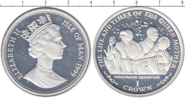 Картинка Монеты Остров Мэн 1 крона Серебро 1999
