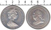 Изображение Монеты Остров Мэн 1 крона 1976 Серебро UNC- Независимость Америк