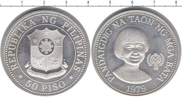 Картинка Монеты Филиппины 50 песо Серебро 1979