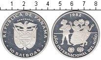 Изображение Монеты Панама 10 бальбоа 1982 Серебро Proof- Год детей
