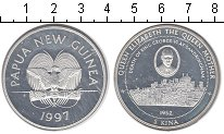 Изображение Монеты Папуа-Новая Гвинея 5 кин 1997 Серебро Proof- Король Георг VI