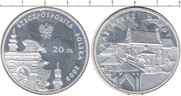 Картинка Монеты Польша 20 злотых Серебро 2008