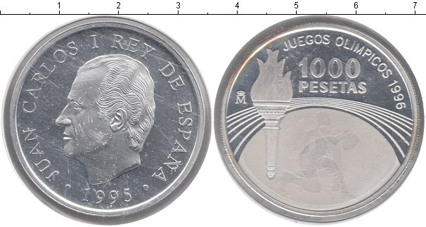 Картинка Монеты Испания 1.000 песет Серебро 1995