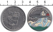 Изображение Мелочь Конго 100 франков 1995 Медно-никель UNC-