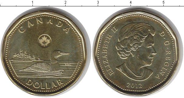 Картинка Мелочь Канада 1 доллар  2012