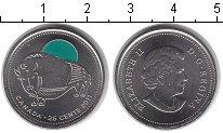 Изображение Мелочь Канада 25 центов 2011 Медно-никель UNC Бизон (цветная эмаль