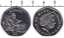 Изображение Мелочь Остров Мэн 50 пенсов 2012 Медно-никель UNC- Олимпиада-2012 в Лон