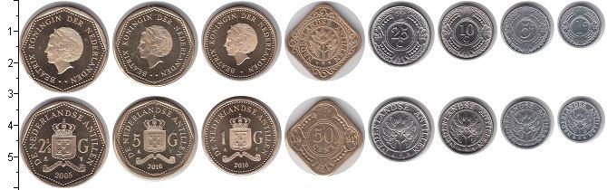 Изображение Наборы монет Антильские острова Антильские острова 1989-2016 0  UNC- В наборе 8 монет ном