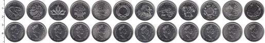 Изображение Наборы монет Канада Канада-2000 2000 Серебро Proof В наборе 12 монет но