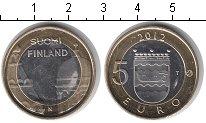 Изображение Мелочь Финляндия 5 евро 2012 Биметалл UNC- Лодка