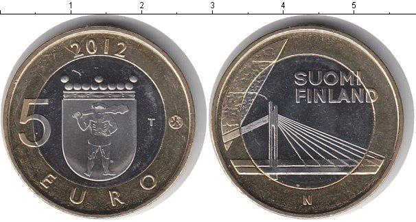 Картинка Мелочь Финляндия 5 евро Биметалл 2012