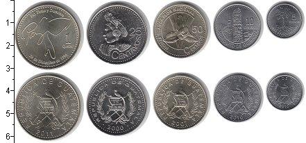 Изображение Наборы монет Гватемала Гватемала 2009-2013 2009  UNC- В наборе 5 монет ном