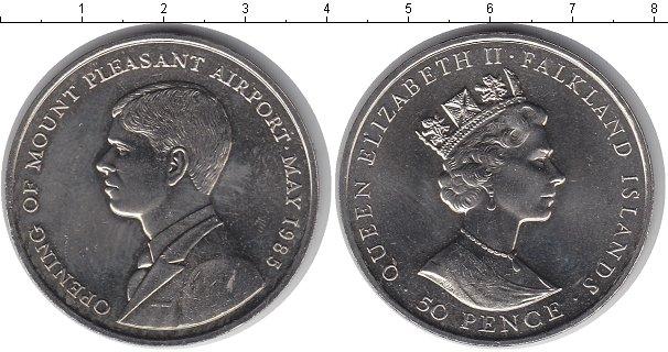 Картинка Мелочь Фолклендские острова 50 пенсов Медно-никель 1985