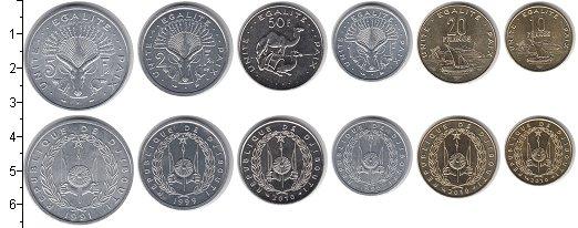Изображение Наборы монет Джибути Джибути 1991-2013 0  UNC- В наборе 6 монет ном