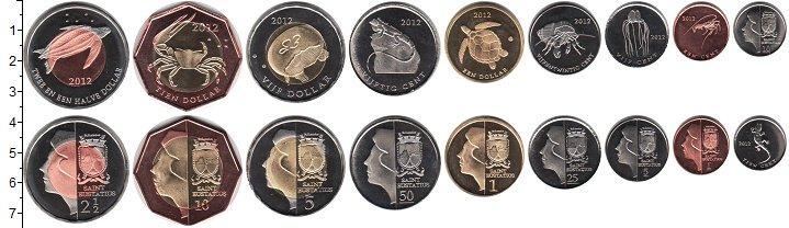 Изображение Наборы монет Остров Святого Евстафия Остров Святого Евстафия 2012 2012  UNC- В наборе 9 монет ном