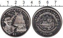 Изображение Мелочь Либерия 1 доллар 1999 Медно-никель UNC Джеймс Кук