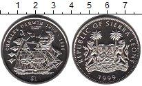 Изображение Мелочь Сьерра-Леоне 1 доллар 1999 Медно-никель UNC