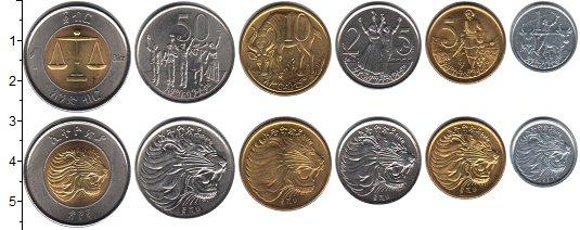 Изображение Наборы монет Эфиопия Эфиопия 1996 0  UNC-