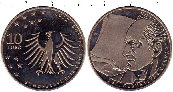Картинка Мелочь Германия 10 евро Медно-никель 2012
