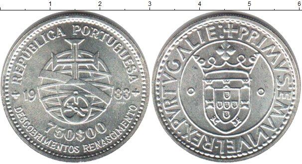 Картинка Мелочь Португалия 750 эскудо Серебро 1983