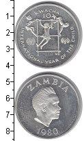 Изображение Монеты Замбия 10 квач 1980 Серебро Proof-
