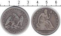 Изображение Монеты США 1/2 доллара 1861 Серебро VF